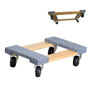 Factory wholesale multifunction wooden moving trolley dolly cart