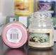 Handmade candles wax scented aroma candle in glass jar