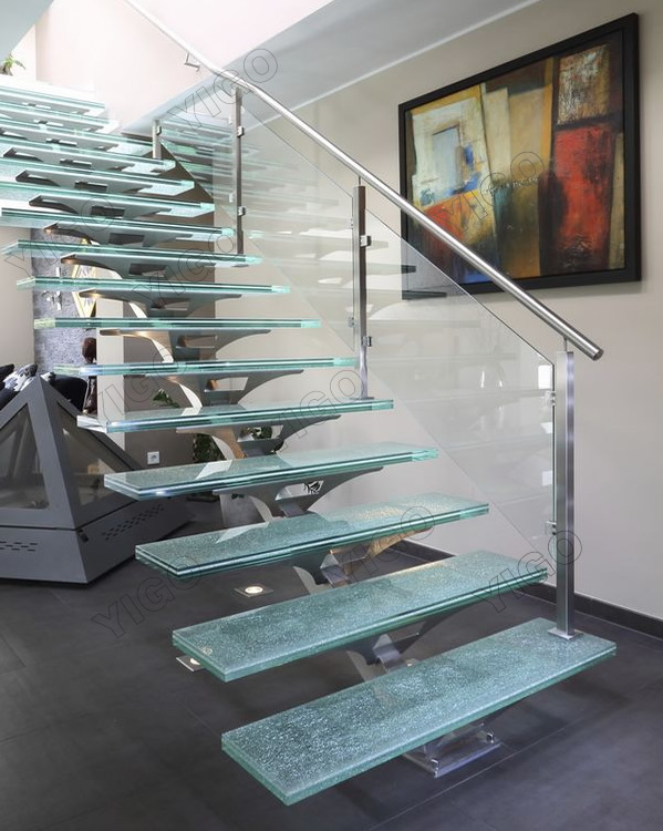 Escalera De Vidrio Preciometal Utilizado Escalerasinterior