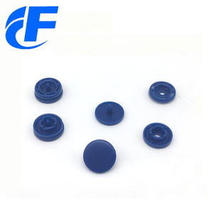 Recycled round shape snap plastic button for bag or clothe four part plastic prongs snap button