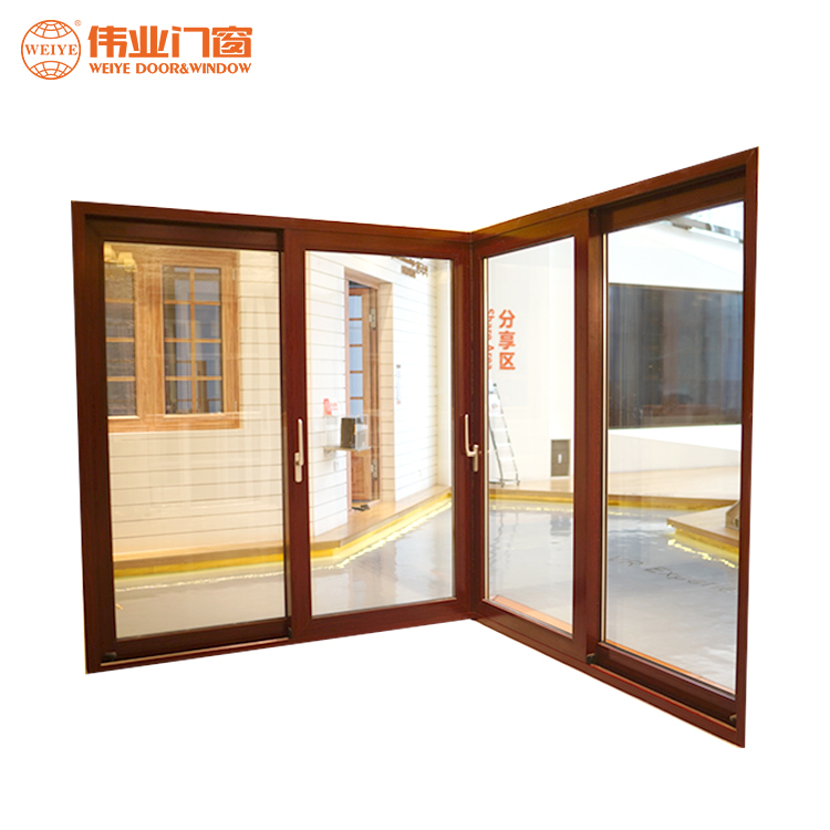 Office building use electric remote push and pull aluminum sliding doors