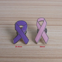 <span class=keywords><strong>Metal</strong></span> Breast Cancer Awareness Ribbon lapela Pin broche - pink & purple Pin câncer