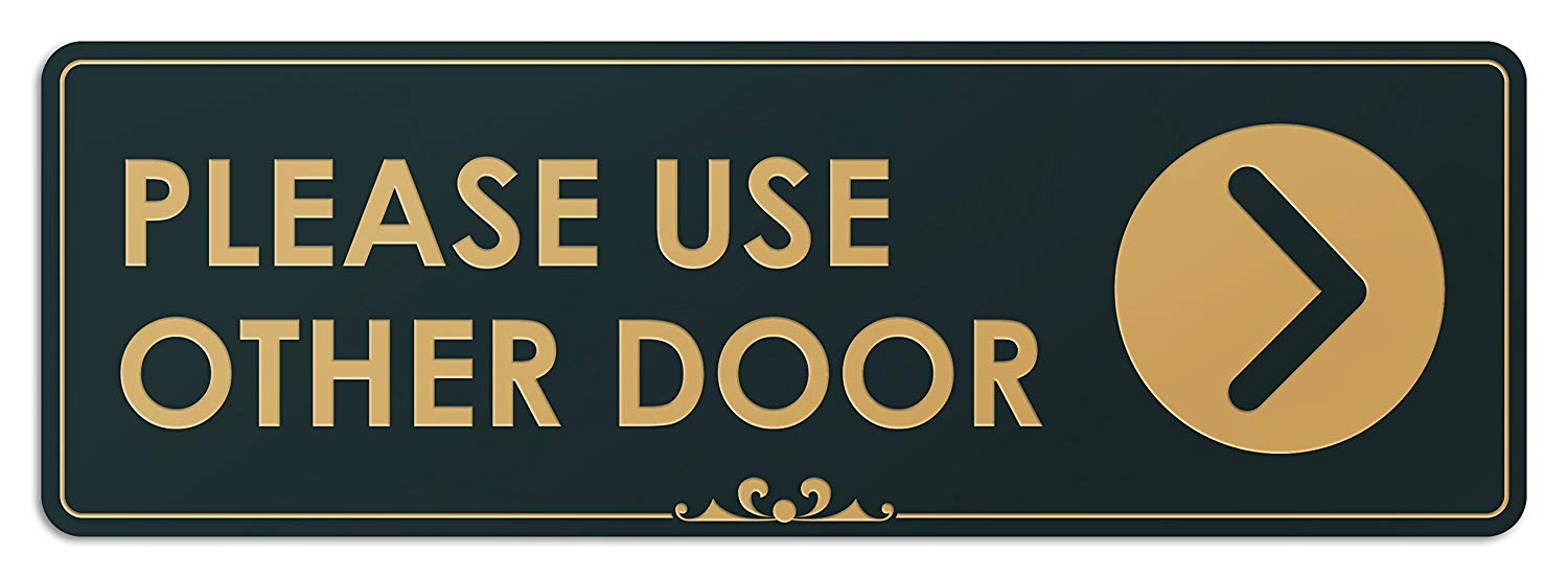 Cheap Please Use Back Door Sign Find Please Use Back Door Sign
