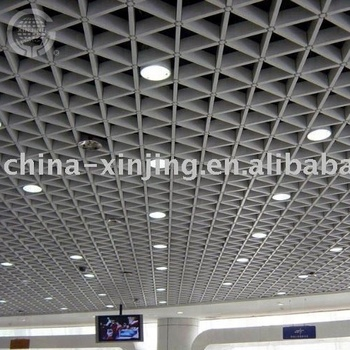 Triangle Aluminum Open Cell Grid Ceiling Decoractive Metal