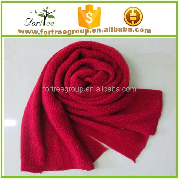scarf in solid color 100% cashmere made in china