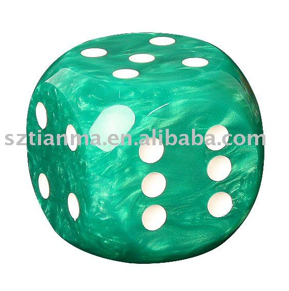 poly resin promotion dice gift