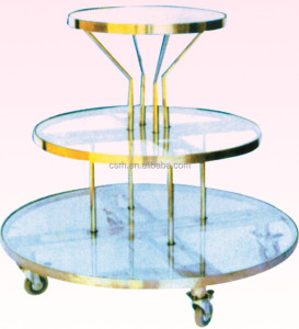 RH-GR-T4 round cloth display table rotating round table