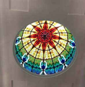 Chinese tiffany stained glass dome ceiling for home hotel, church decor