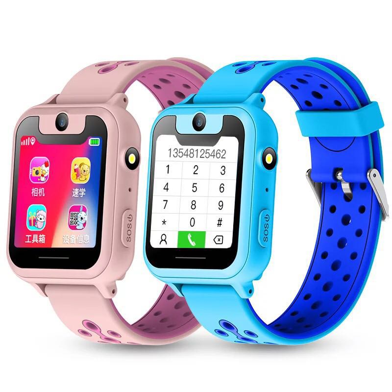 S6 Children smart phone watch with camera sos calling lighting location trackter for kids