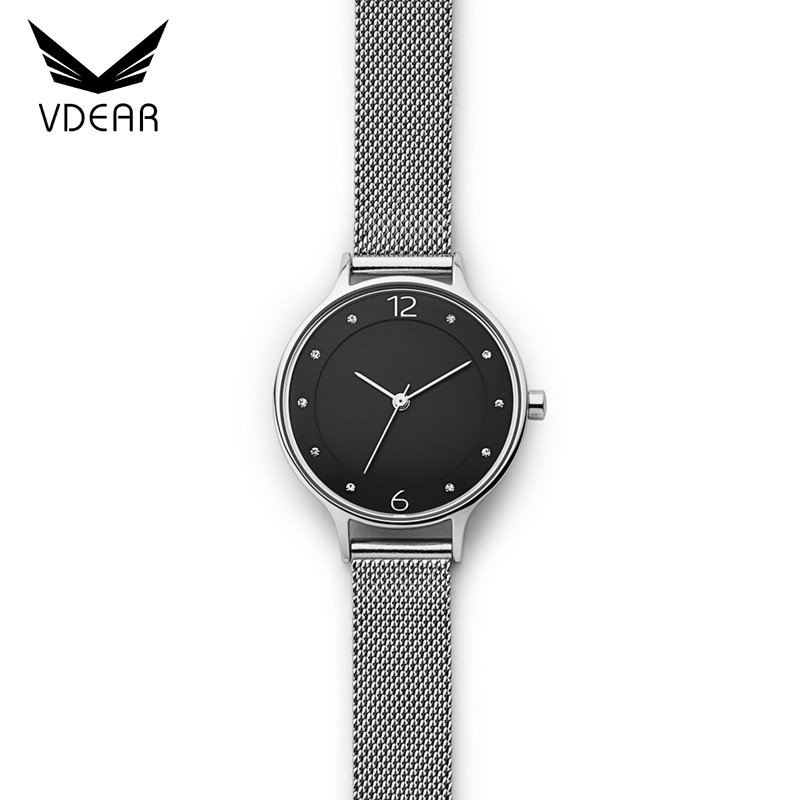 Wholesale stainless steel watch diamond brand custom watches matte black