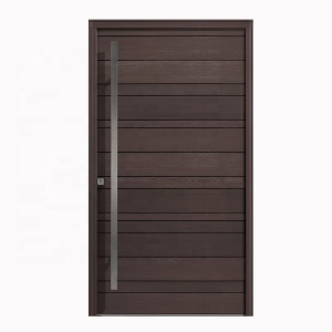 Modern design HDF wood door entry front door