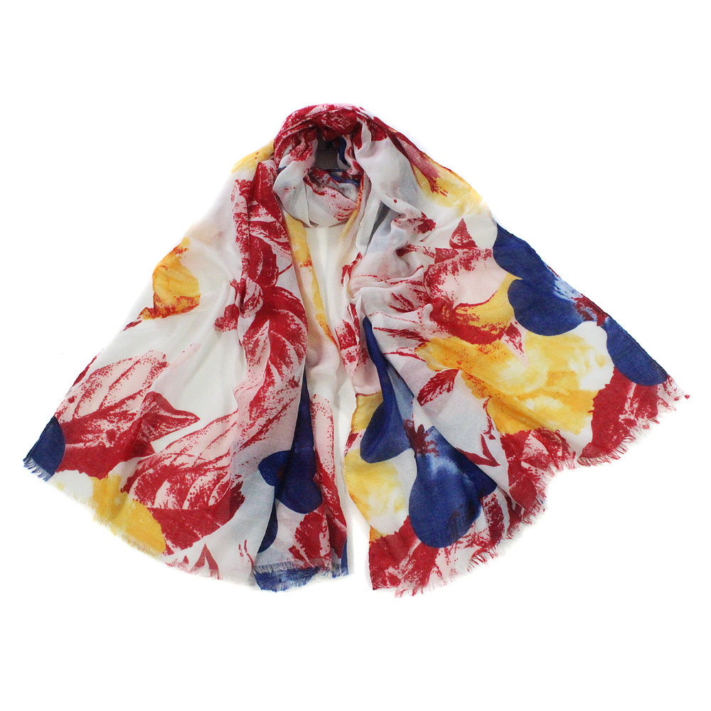 Wholesale Cotton Feel Colored Butterfly Scarf Shawl Woman