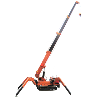Foldable hydraulic spider bridge crane price