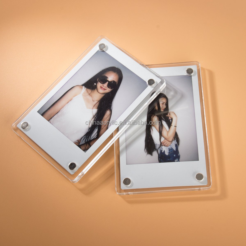 Eco-friendly 16x20 lucite box plexiglass frameless picture frame with screws