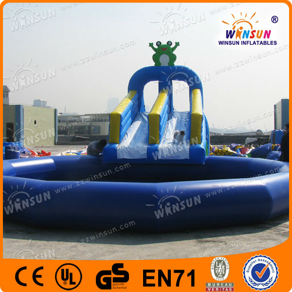 Giant advertising newest style fixed promotion inflatable eagle slide