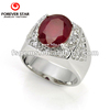 Suit as gift 1R000274A 925 silver oval 11*9 Africa ruby ring very elegant