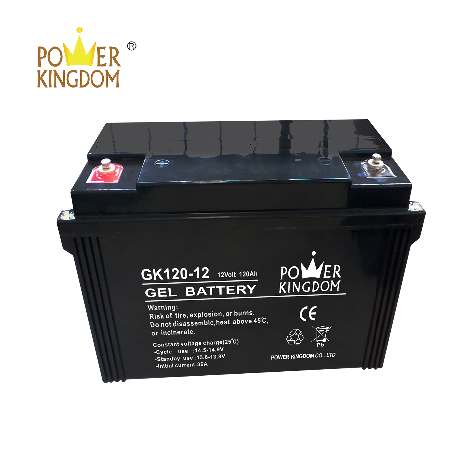 Power Kingdom maintenance free lead acid battery factory wind power system-2