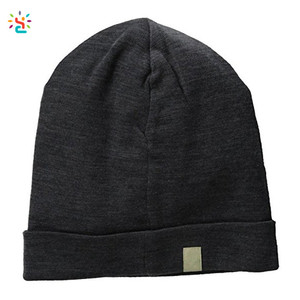 New Apparel oem blank beanies comfortable unisex 100% merino wool ridge cuff beanie hat wholesale