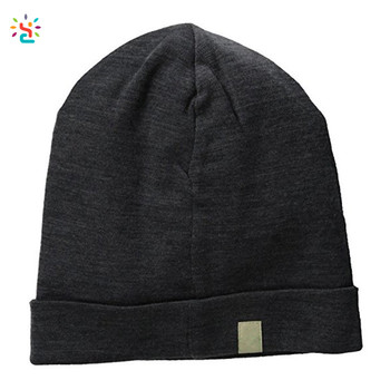 New Apparel oem blank beanies comfortable unisex 100% merino wool ridge  cuff beanie hat wholesale 645149aa9d5