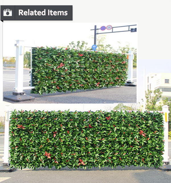 Outdoor Plastic Green Barrier Cheap Factory Mini Leaf Fence