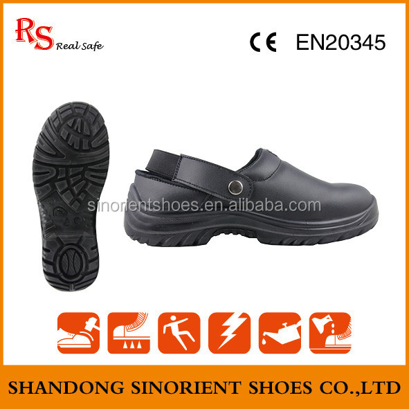 Waterproof action leather steel toe cap slip reisistant sandal safety shoes Cheap kitchen safety shoes SNF5113B