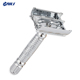 Metal stainless steel double edged blade straight safety razor shaving travel set,long handed butterfly open cut throats razor