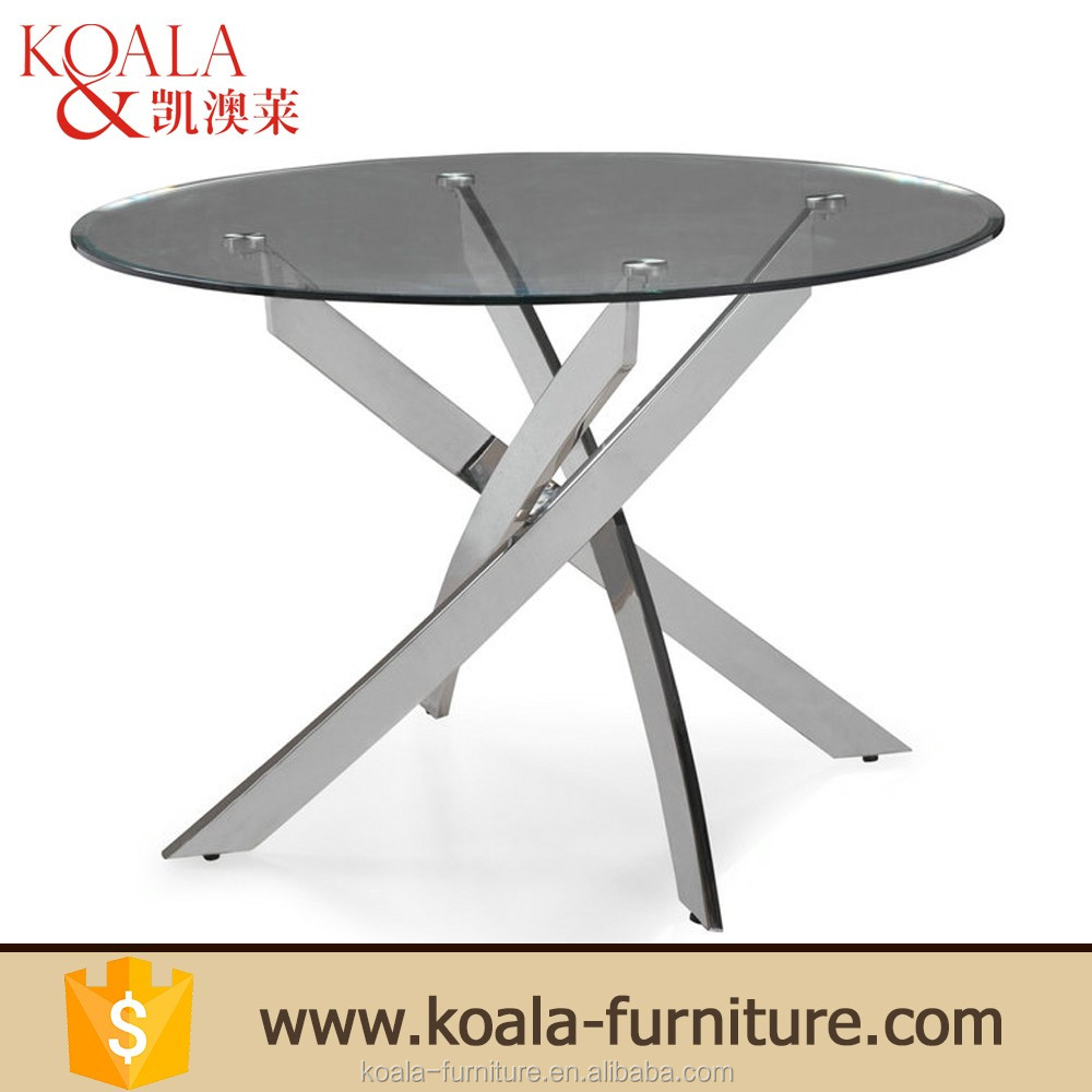 Factory Direct Wholesale Cheap Modern Round 10mm Thick Tempered Glass Dining <strong>Table</strong> 89usd Only