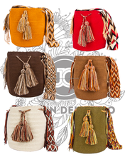 Genuine Solid Wayuu Mochila Bag by Jardin del Cielo (Desert)
