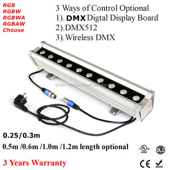 Dmx 512 Or Wireless Dmx Control 18 1w Rgb 3in1 Outdoor Pixel Led Light Bar Led Wall Washer Light Buy Outdoor Led Lights Wall Washer Outdoor Led