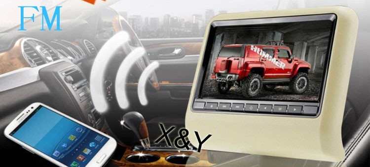 car dvd player,tft lcd headrest monitor dvd player for car ,9 inch monitor with 800*480 digital screen ,car dvd minitor XY-7089