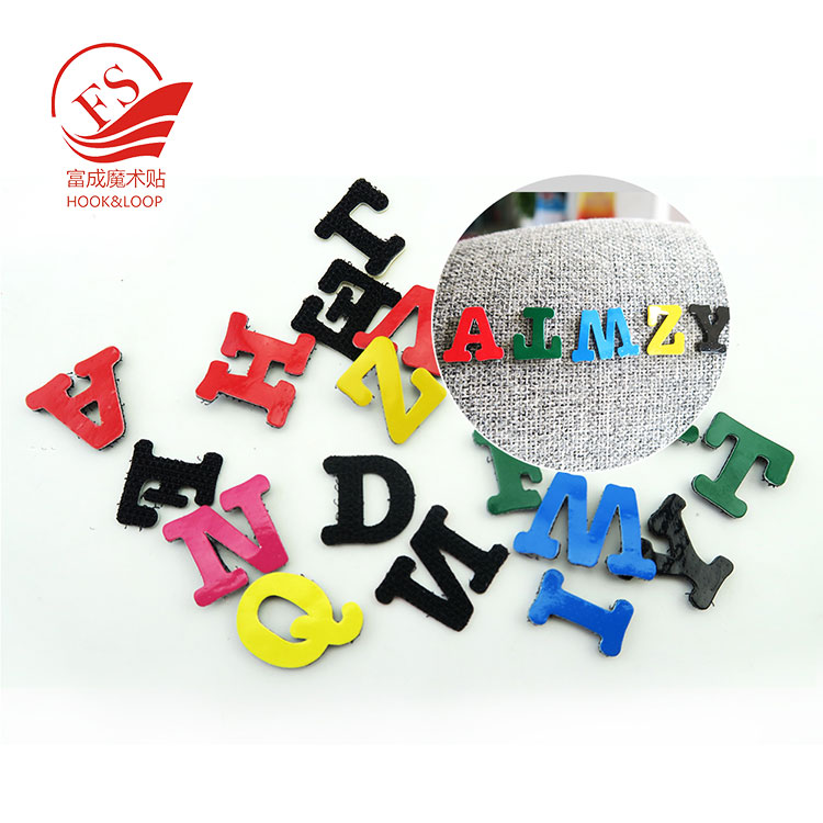 Wholesale lovely colorful Hook and Loop alphabet letter for kid toys