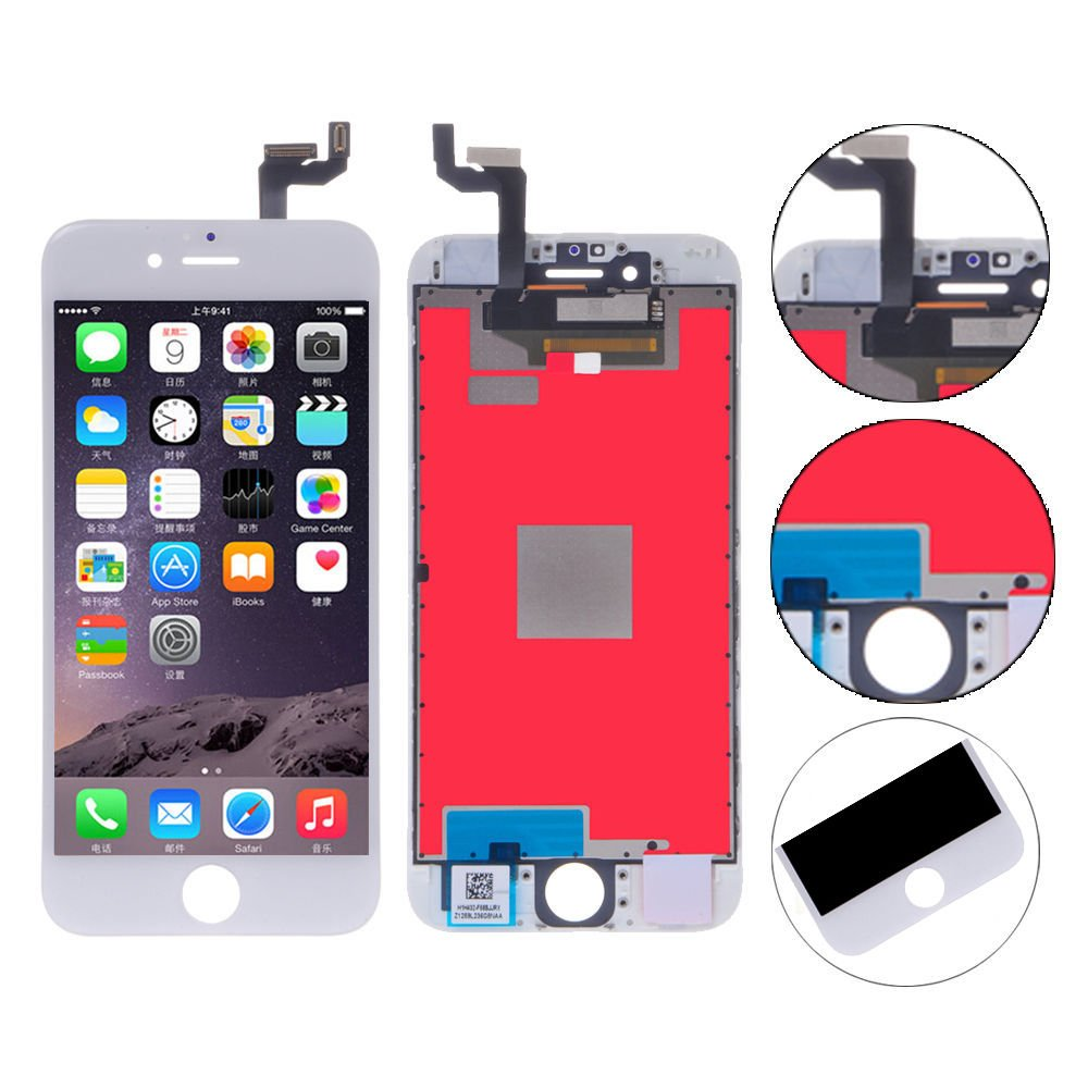 Global-Supplier Replacement LCD Display Touch Screen Digitizer Assembly for iPhone 6S 4.7 inch with 3D Touch (white)