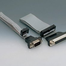 computer monitor use braided VGA cable DB9 RS232 to IDC 10 connector serial cable