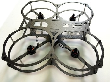 cnc carbon fiber octocopter frame kit