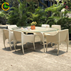 4 pcs arm chair+2 pcs armless chair+oval table