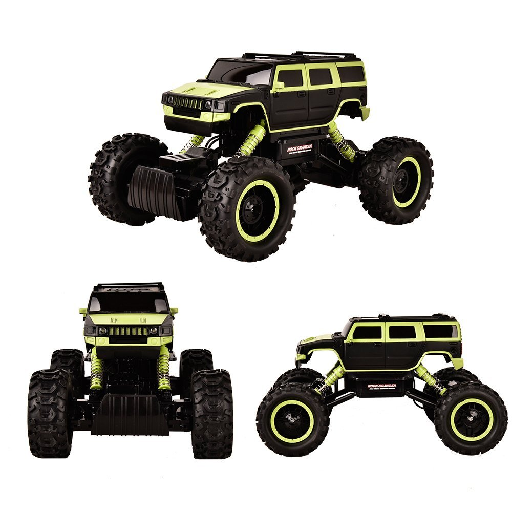 TTLIFE Rock Crawler RC Car - 4x4 Remote Control Car - 1/14 Rock Master Rock Crawler with 2.4Ghz Controller(green)