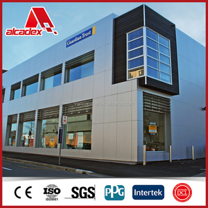 shopping mall wall cladding aluminum composite sheets, acp panels