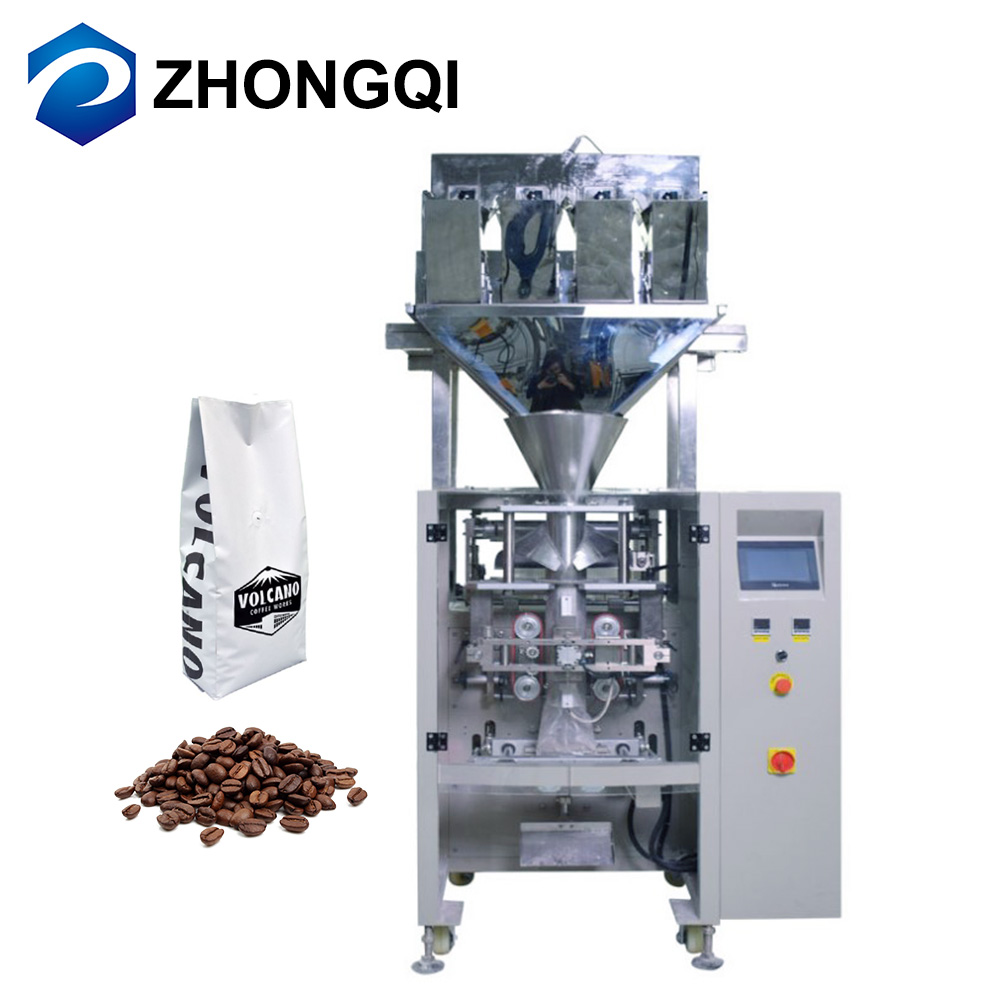 Auto Weighing Roasted Coffee Bean 1kg Automatic Valve Bag Packing Machine