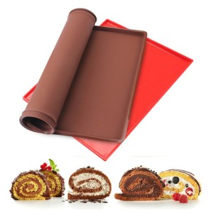 Wholes Silicone Swiss Cake Roll Mat Silicone Backing Mat Pizza Cookies Mold