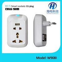 Universal remote controller switch socket digital charger zigbee wall switch/socket, smart home auto controller via phone