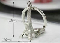 France paris metal mini eiffel tower keyrings tourist souvenir, promotional gift