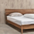 nordic contracted single solid wood double beauty king size bed furniture designs