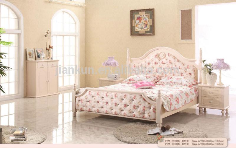 De color rosa de madera blanca camas con dosel juegos de for Camas blancas de madera