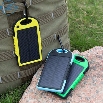 95% battery conversion outdoor charger solar power bank 20000mah