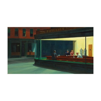 Free Shipping Edward Hopper Giclee Canvas Print Paintings Poster Reproduction Fine Art Wall Decor(Night hawks)