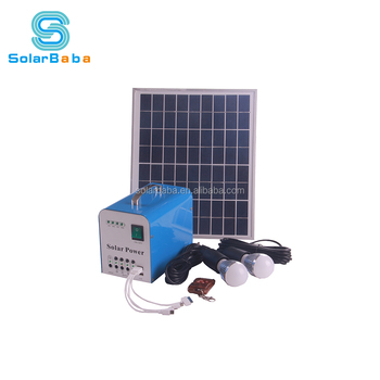 12 Volt Portable Home Use Small Solar Led Light System For Indoor