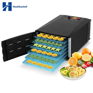Low Noise Quiet Working 6 Trays Commercial Preserve Raw Food Dehydrator