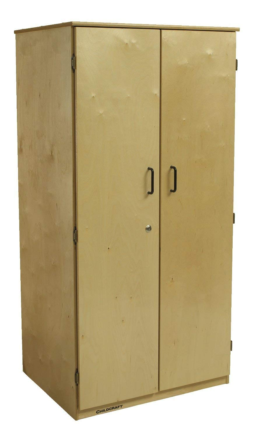 Childcraft 1484118 Locking 2-Door Teacher Storage Unit, 29-3/4 x 23 x 60 Inches Height,23 Inches Width,29.75 Inches Length,Natural Wood
