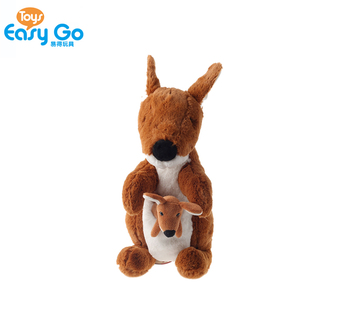 Australia Kangaroo Plush Toy With Baby Pouch Custom Kangaroo Stuffed