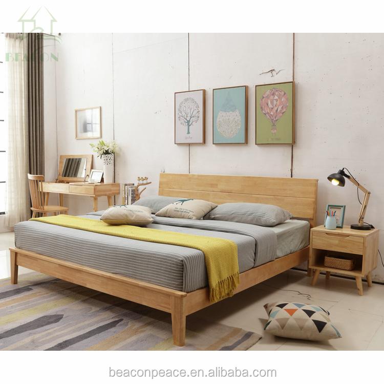 2018 Antique White Bedroom Furniture Soft Bed